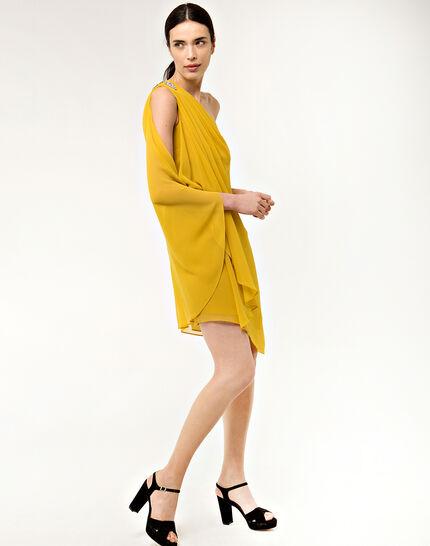 Féline one-shoulder yellow dress (3) - 1-2-3