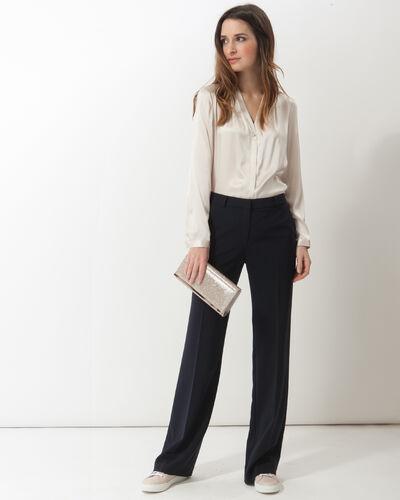 Flo silver-coloured silk blouse (2) - 1-2-3