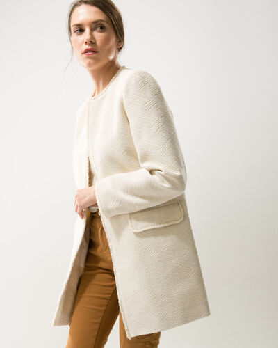 Louison lurex jacquard ecru coat (1) - 1-2-3