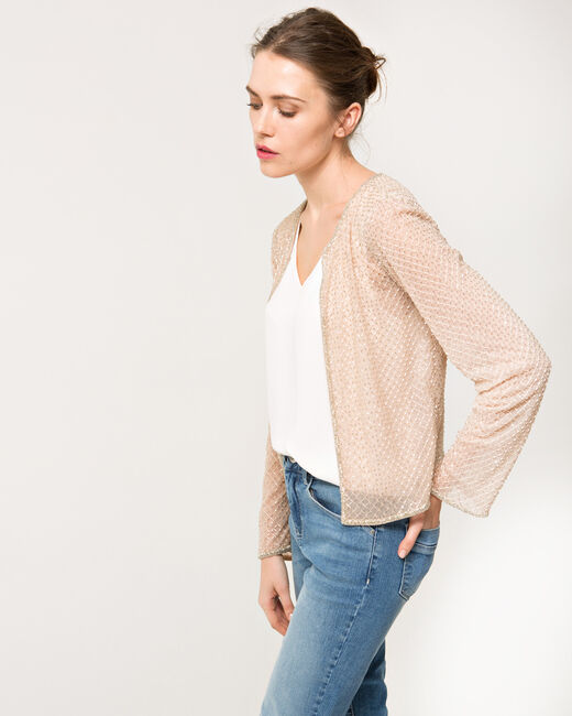 Katy pale pink embroidered jacket (2) - 1-2-3