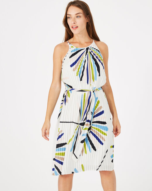 Garden printed dress with pleats (1) - 1-2-3