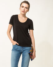 Noon black t-shirt black.