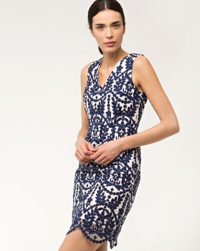 Festival blue embroidered dress (2) - 1-2-3