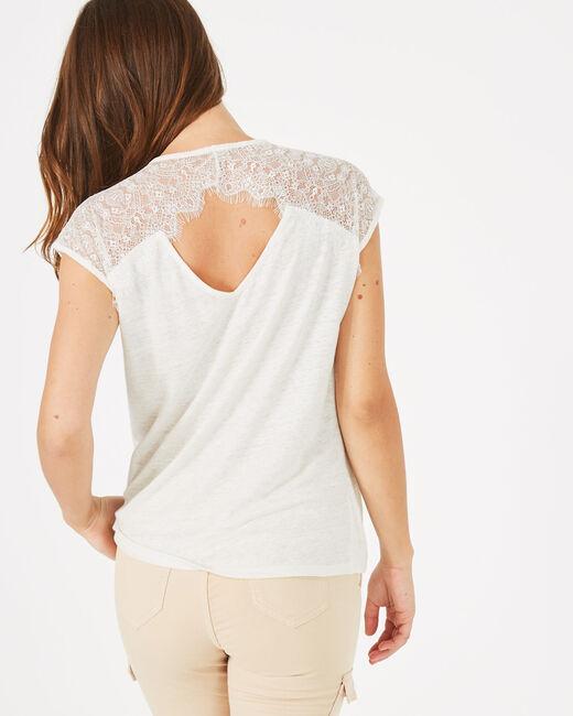Noha ecru linen T-shirt (2) - 1-2-3