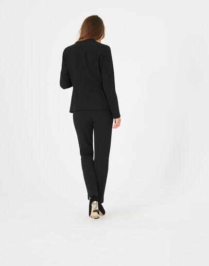 Majeste black mid-length tailored jacket (5) - 1-2-3