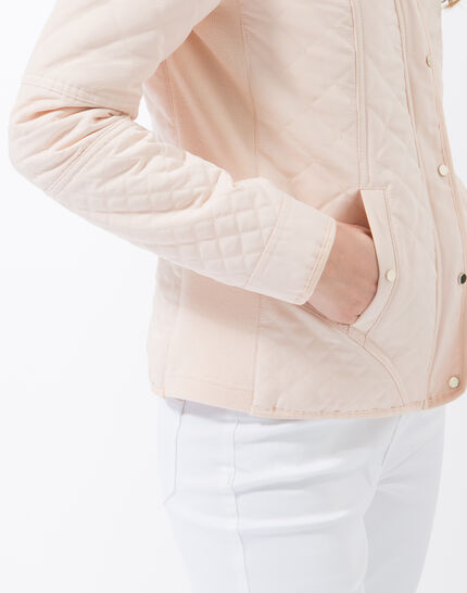 Olympe powder pink quilted parka (5) - 1-2-3