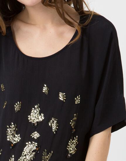 Ecrin navy blue embroidered shirt (2) - 1-2-3
