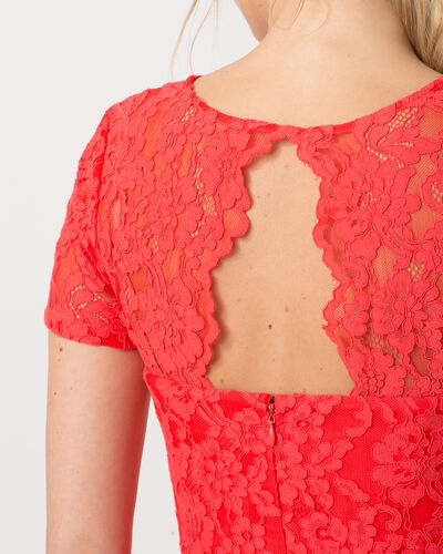 Friandise coral lace dress (2) - 1-2-3