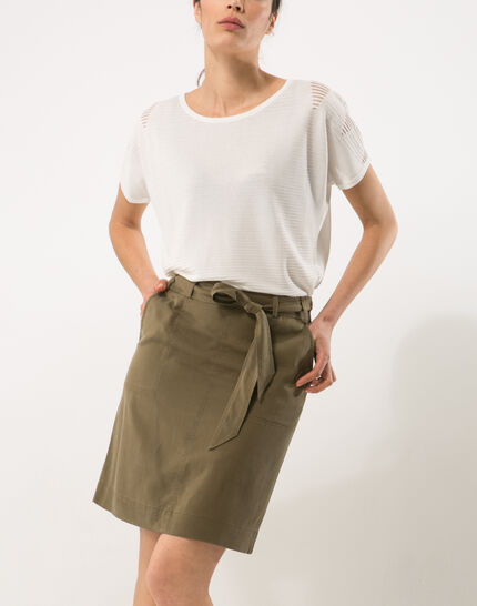 Dolce khaki skirt lyocell PhotoZ | 1-2-3
