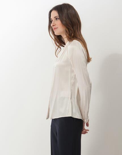 Flo silver-coloured silk blouse (5) - 1-2-3