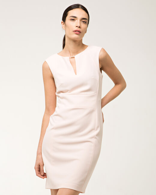 Belize powder pink belted dress (2) - 1-2-3