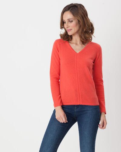Heart orangey cashmere sweater (1) - 1-2-3
