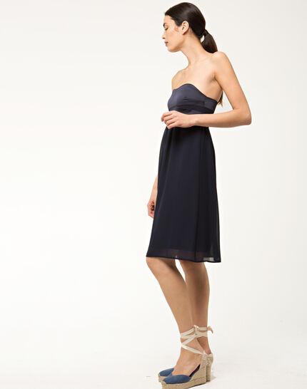 Fabiola navy blue bustier dress (5) - 1-2-3