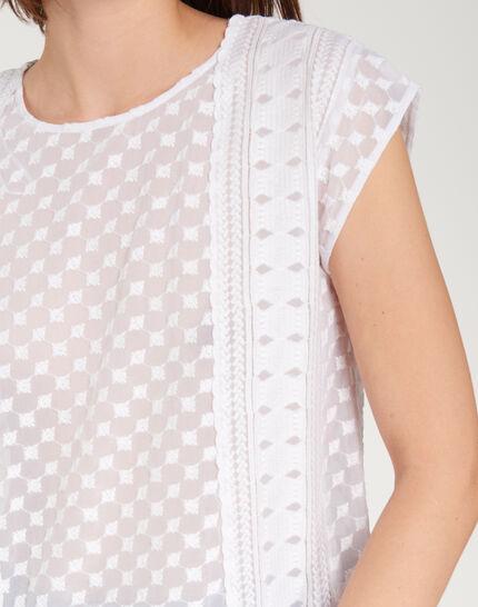 Ekta ecru embroidered shirt (5) - 1-2-3