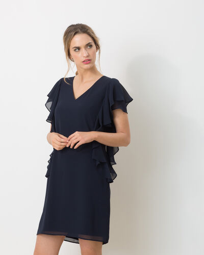 Flamme navy blue floaty dress (1) - 1-2-3