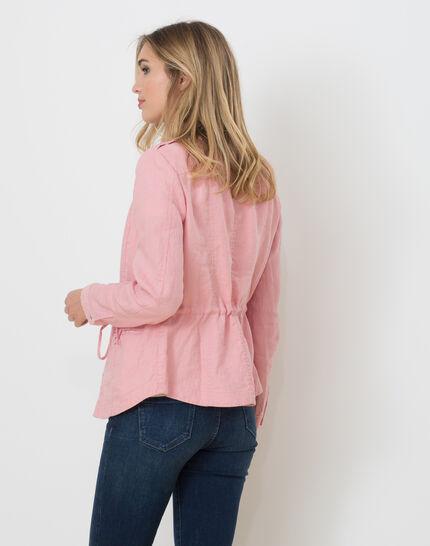 Umbria pink linen jacket (3) - 1-2-3