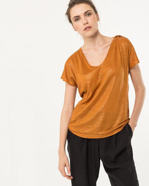 Tee-shirt ocre en lin Nuba (2) - 1-2-3