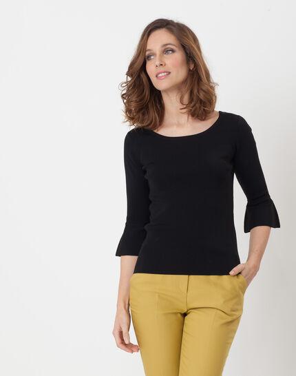 Hesmerelda black sweater with flared sleeves PhotoZ | 1-2-3