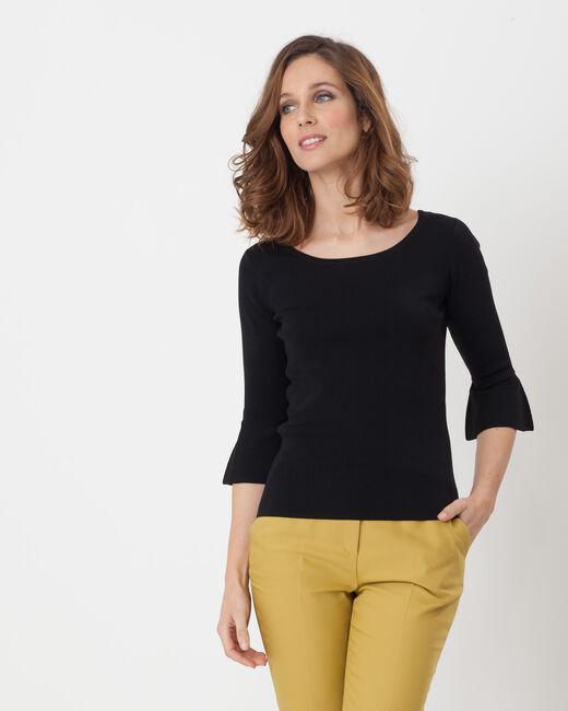 Hesmerelda black sweater with flared sleeves (1) - 1-2-3