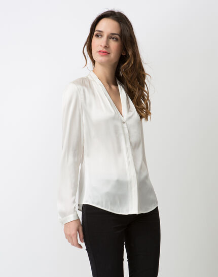 Flo ecru silk blouse PhotoZ | 1-2-3