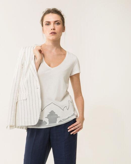 Tee-shirt écru dentelle Noiseau (2) - 1-2-3