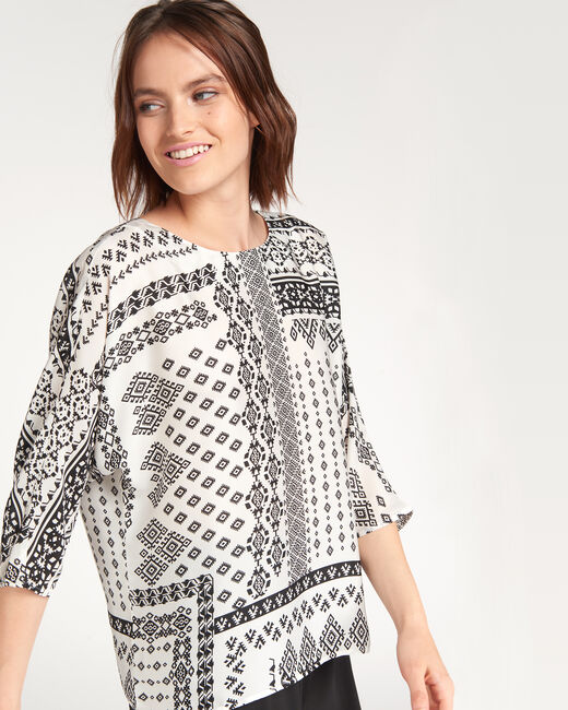 Enjoy bis printed black and white blouse (1) - 1-2-3