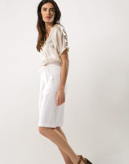Dahalia white linen skirt (3) - 1-2-3