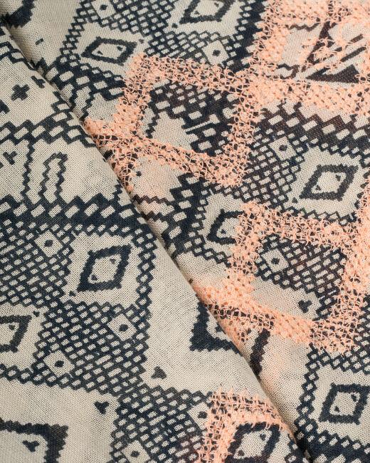 Saby navy blue printed scarf (2) - 1-2-3