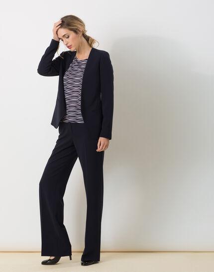 Pepin bis navy blue wide-cut trousers (2) - 1-2-3