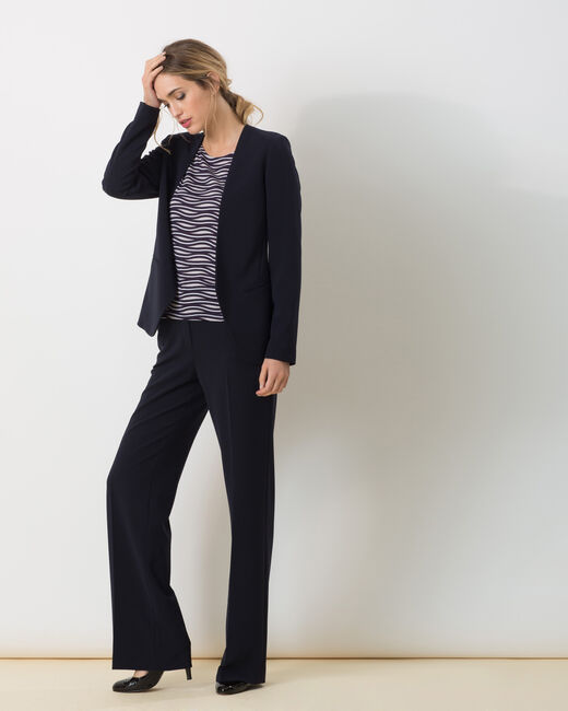 Pepin bis navy blue wide-cut trousers (1) - 1-2-3