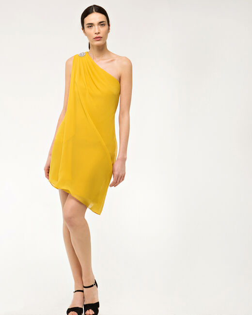 Féline one-shoulder yellow dress (1) - 1-2-3