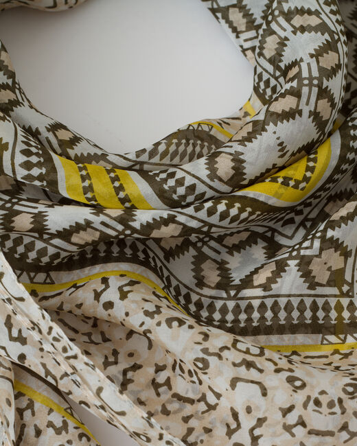 Saskia olive floral print scarf (2) - 1-2-3