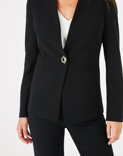 Majeste black mid-length tailored jacket PhotoZ   1-2-3
