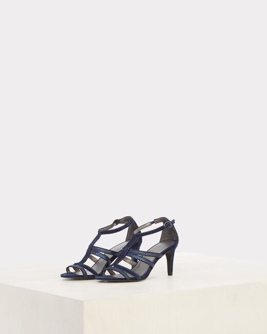 Jennie open-toed navy blue pumps (1) - 1-2-3