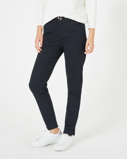 Pantalon bleu marine à pois Kylie (2) - 1-2-3