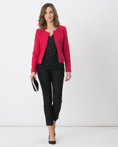 Allumette raspberry jacket with decorative fabric (1) - 1-2-3