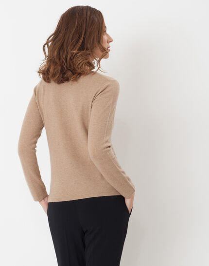 Heart taupe cashmere sweater (4) - 1-2-3