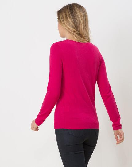 Honorine fuchsia sweater with long sleeves (4) - 1-2-3