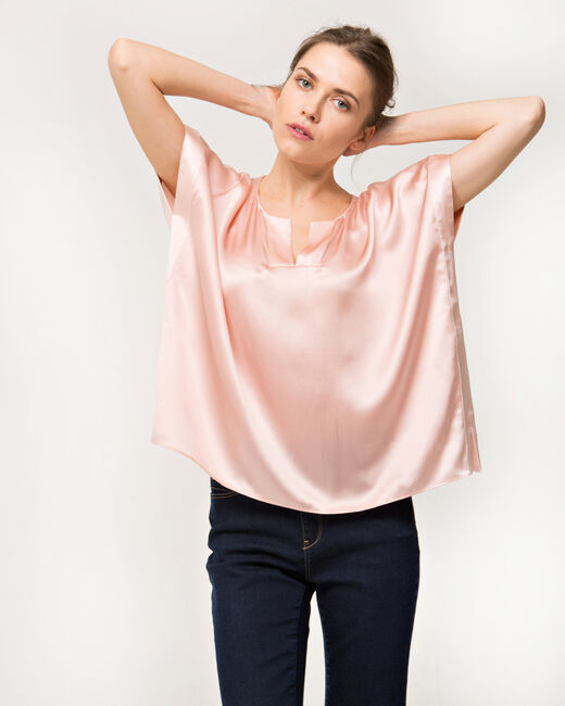 Tiger pale pink silk top (1) - 1-2-3