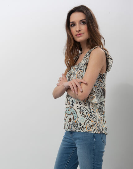Ebahi floral printed top with frilly sleeves (5) - 1-2-3