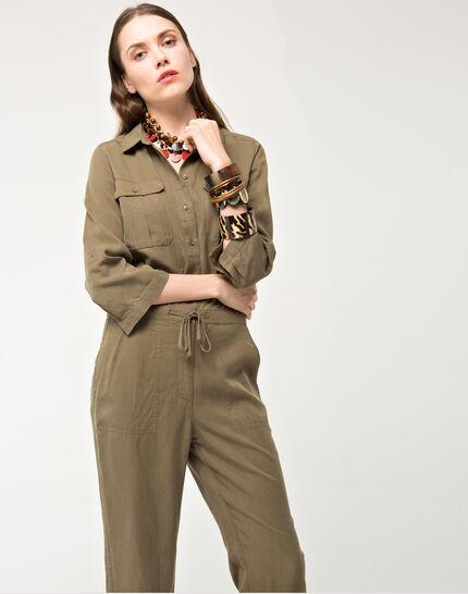 Bali khaki jumpsuit PhotoZ   1-2-3