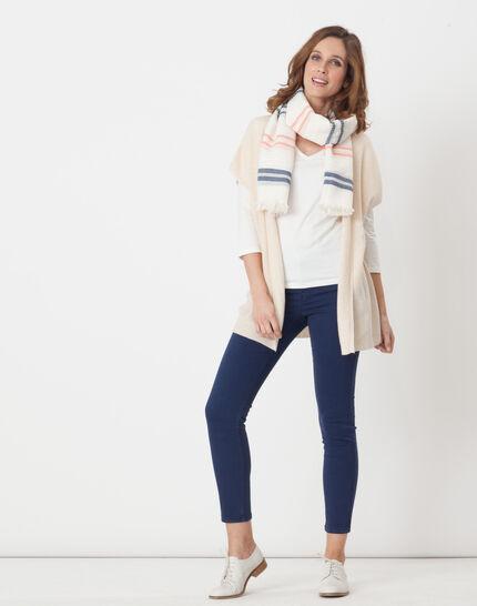 Nacre ecru T-Shirt with 3/4 length sleeves (5) - 1-2-3