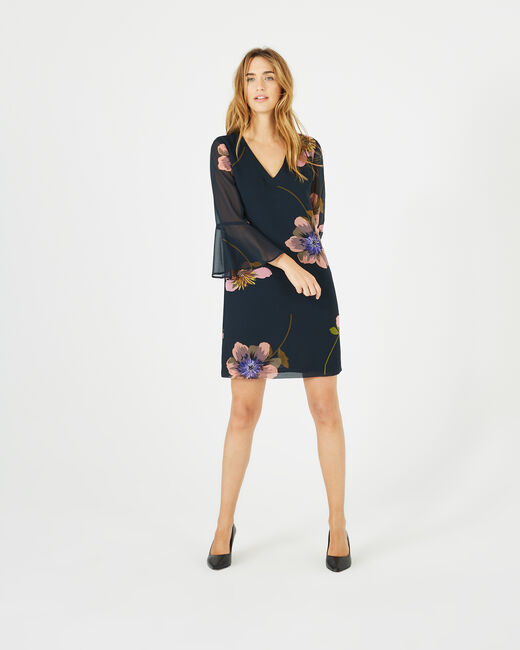 Robe imprimée fleurs Astrid (2) - 1-2-3