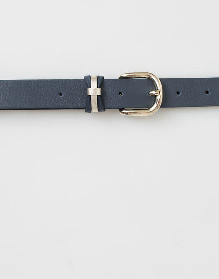 Yonka fine navy blue leather belt (3) - 1-2-3