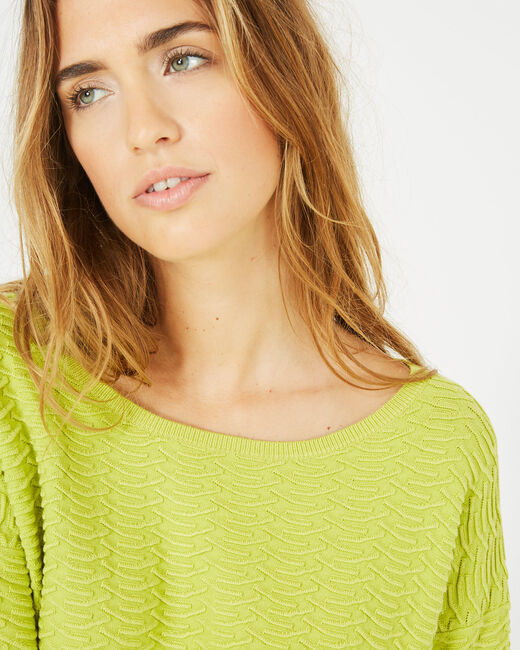 Pull jaune jeu de points Pop (2) - 1-2-3