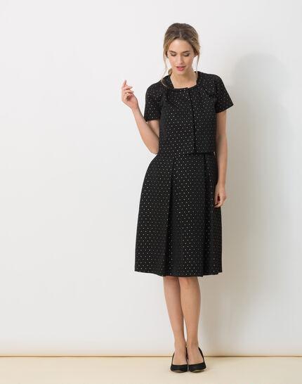 Limoncello black bolero with shiny polka dots (2) - 1-2-3