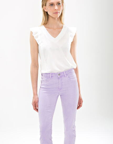 Oliver lilac cropped trousers PhotoZ | 1-2-3