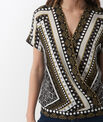 Alix printed wrap-over shirt PhotoZ | 1-2-3