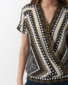 Alix printed wrap-over shirt (5) - 1-2-3