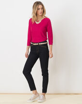 Hélice fuchsia sweater with long sleeves light fuchsia.